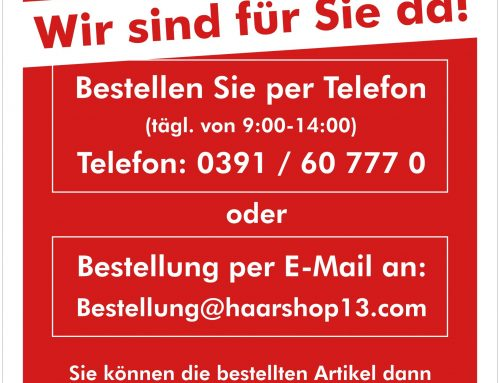 Haarshop 13 – Call and Collect Aktion